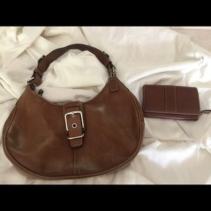 Barely used Coach purse and matching wallet.
